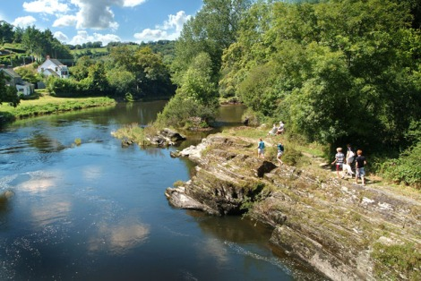 photo of river Teifi at Cenarth Falls