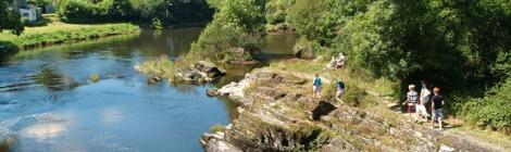 photo of river Teifi at Cenarth Falls