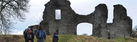 photo of Newcastle Emlyn castle remains