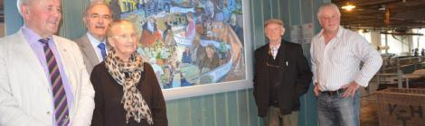 photo of artists Aneurin and Meirion Jones at Dre-fach Felindre