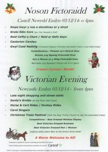 poster for Newcastle Emlyn Victorian Fair