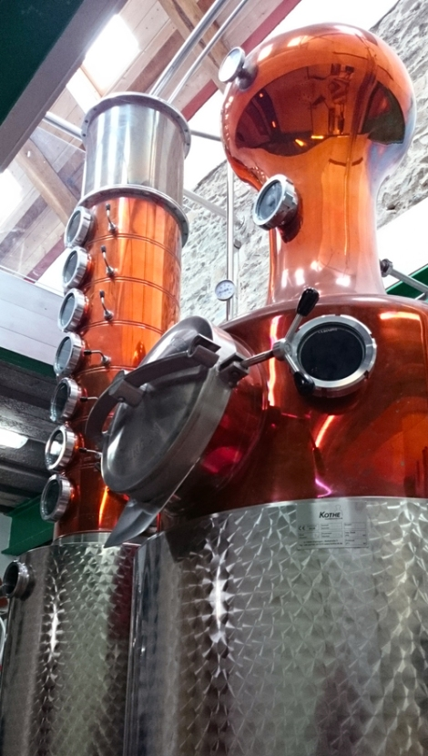 photo of still at Da Mhile Distillery, near Llandysul